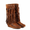 Ash Shilo Womens Fringe Boot Sienna Suede 350651 (907)