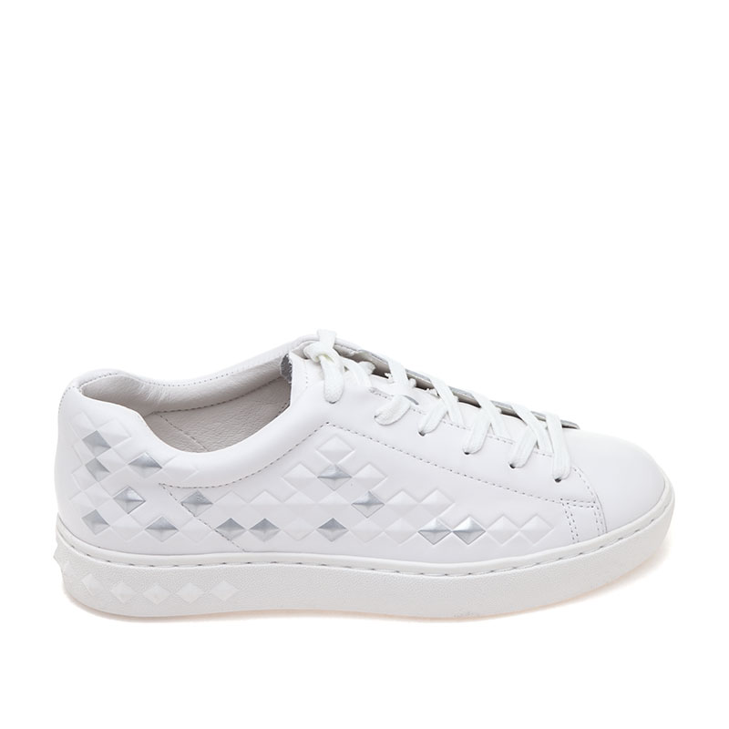 Panic White Leather Sneaker