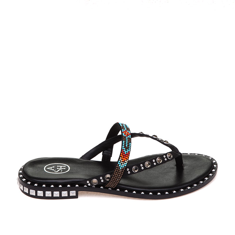 Pasha Black Multi Sandal