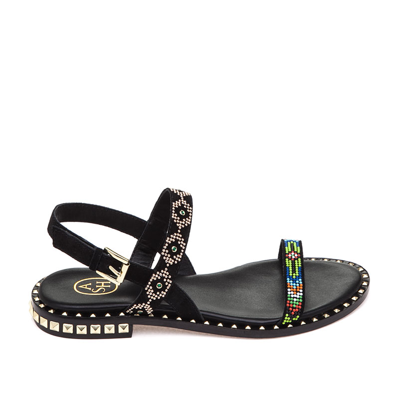 Peace Black Sandal