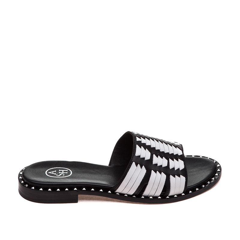 Playa Black White Sandal