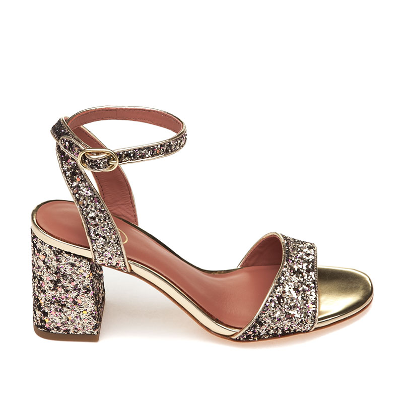 Quartz Gold Fabric Sandal