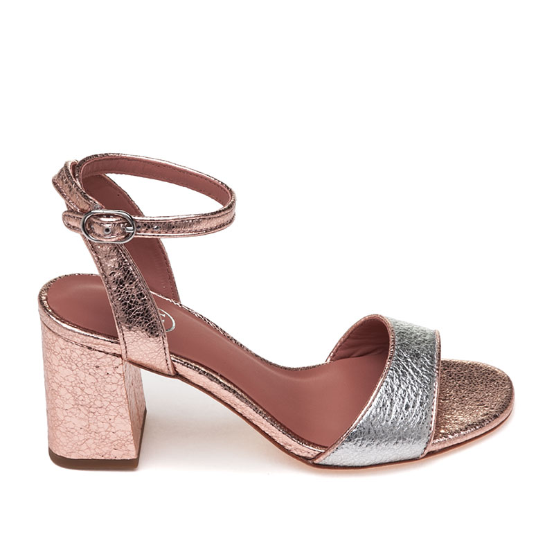 ASH Quartz Silver Leather Sandal