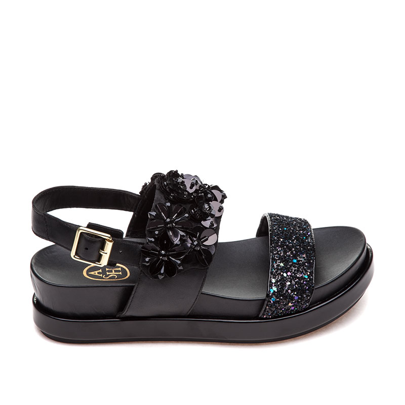 ASH Sharon Midnight Black Sandal