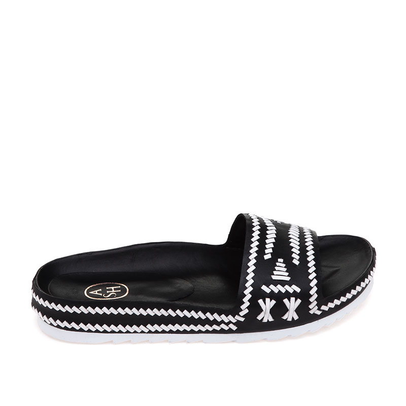 Ulla Black White Sandal