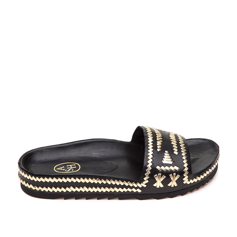 Ulla Black Gold Sandal
