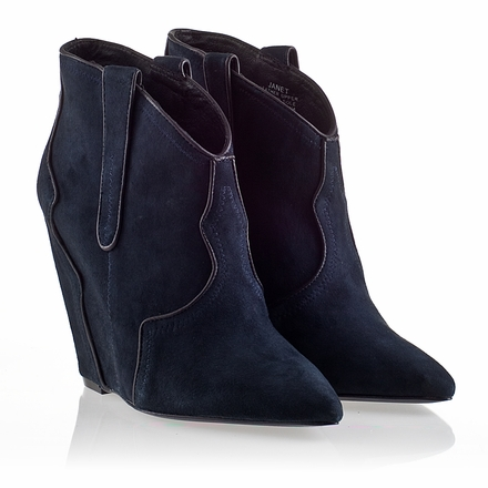 Womens Janet Boot Midnight Suede 330398 (502)