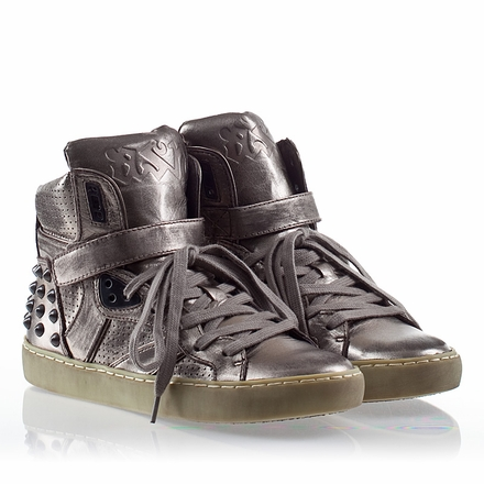 Ash Skunk Womens Stud Sneaker Piombo Leather 330337 (013)