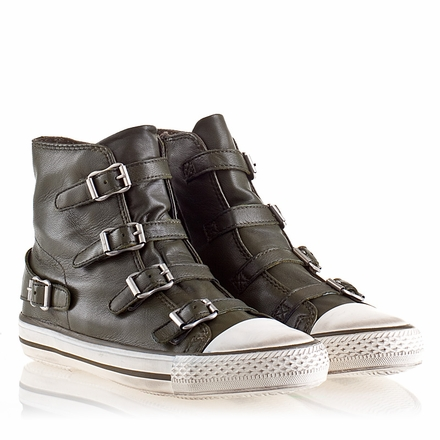 Ash Virgin Womens Sneaker Military Leather 330053 (350)