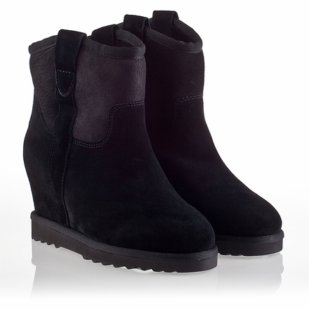 Ash Yahoo  Bis Womens Wedge  Boot  Black Suede 330292 (001)