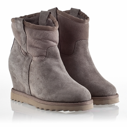 Ash Yahoo  Bis Womens Wedge  Boot  Stone Suede 330292 (094)