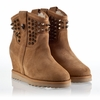 Ash Yahoo  Womens Wedge Spike Boot Light Camel Suede 330290 (276)