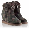 Ash Yahoo  Womens Wedge Spike Boot Topo Suede 330408 (235)