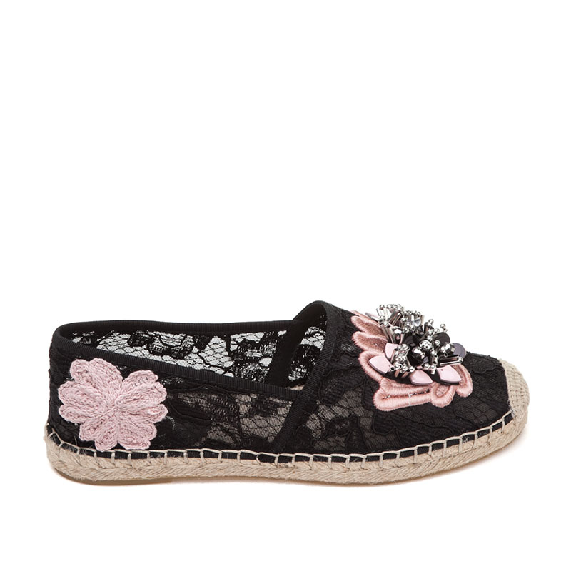 Zaya Black Fabric Espadrille