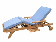 Classic Teak Lounger with cushion