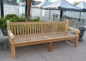 Commercial Teak Bench 8F