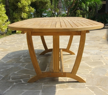 Deluxe Oval Double Extension Table Large