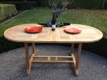 Deluxe Oval Extension Table Small
