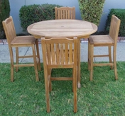 Deluxe Teak Bar Table Set