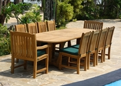 Deluxe Teak Table Set 11PC