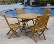 Folding Teak Table Set