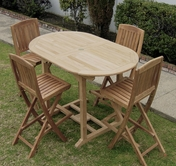 Stinson Oval Teak Bar Set