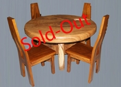 Suar Wood Table-set
