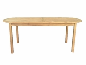 Teak Oval Table 6ft