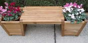 Teak Planter Bench-Large