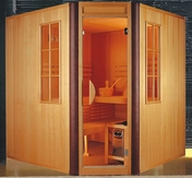 Traditional Corner Sauna 4 Person