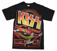 KISS Hotter Than Hell Car T-Shirt