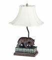 Bear With Fish Lamp