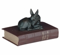 Deer Fawn Statue On A Book