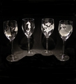 Evergreen Crystal 10 oz. Set of 4 Wine Glasses