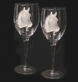Evergreen Crystal Pair Of 10 oz. Wine Glasses