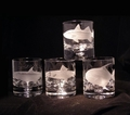 Evergreen Crystal Set of 4 Hand Engraved 11 oz Rocks Glasses