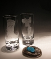 Evergreen Crystal Set of 4 Hand Engraved High Ball Glasses