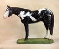 "Full Body Large Size ""Overo Paint Horse"" Statue"
