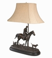 Huntsman And Three Hounds Lamp