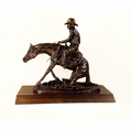 """""""In The Dirt"""" Sliding Reining Horse Trophy"""