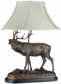 Large Calling Elk Lamp