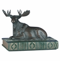 Moose on Book Statue