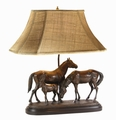 Remington Horse Family Lamp
