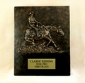 """Ride N' Slide"" Reining Horse Free Standing Two Piece Plaque"