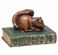 Squirrel On Book Statue