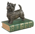 Westie On A Book Statue