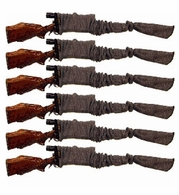 "Sack-Ups 52"" Knitted Silicone-Treated Rifle/Shotgun Socks - 6 Pack"
