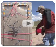 A Liberty Gun Safe Exploded With Dynamite