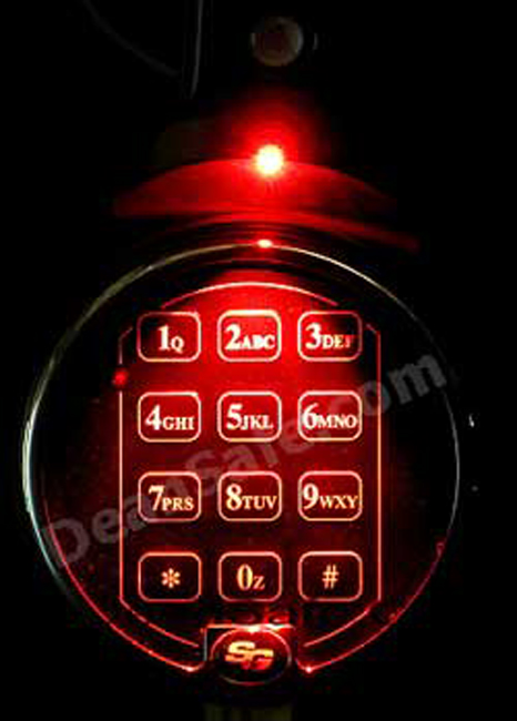 Keypad Light For Electronic Push Button Safe Locks 30