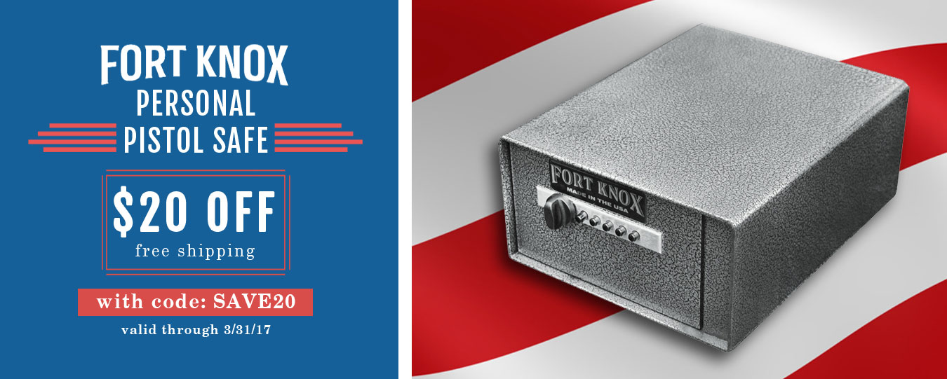 President's Day Special | Fort Knox Personal Pistol Safe